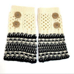 Simply Noelle fingerless knit gloves hand warmers
